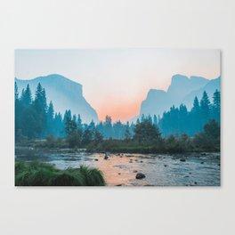 Pastel Yosemite #society6 #buyart Canvas Print