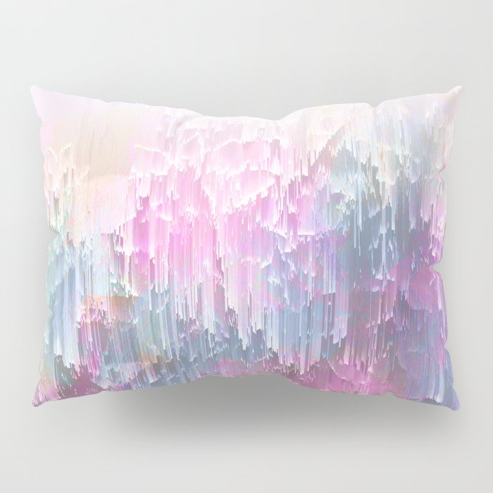 Magical Nature - Glitch Pink & Blue Pillow Sham