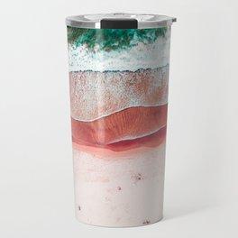 Pink Beach Print, Aerial Beach, Bondi Beach, Aerial Photography, Ocean Waves, Waves Print, Sea Print, Modern Home Decor Print Art Travel Mug
