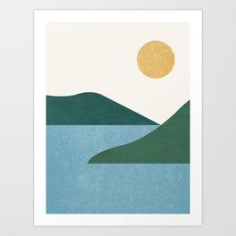 Sunny Lake - Abstract Landscape Art Print