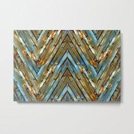 Knotty Plank Texture Metal Print