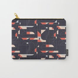 Geometric Print Repeat Carry-All Pouch