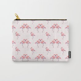 Flamingo Pattern Watercolor Pink Flamingos Carry-All Pouch