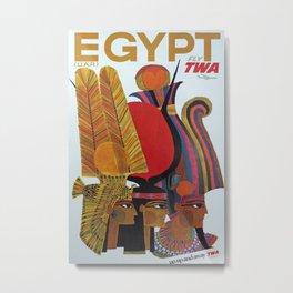 Egypt Vintage Travel Poster Metal Print