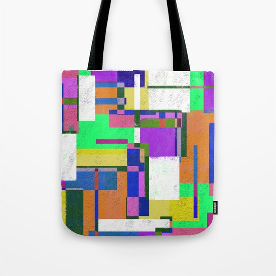 Pastel Geometry Tote Bag