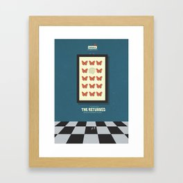 The Returned, french tv series, minimalist, alternative poster, Canal+ Framed Art Print