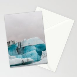 Iceberg in the glacial lagoon in Iceland - landscape photography Stationery Cards