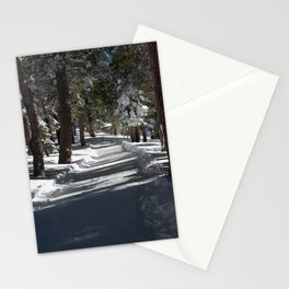 Mammoth Mountain: Chalets Path Stationery Cards
