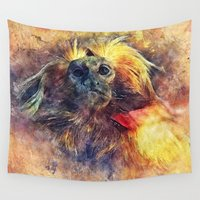 monkey Wall Tapestries featuring Monkey by jbjart