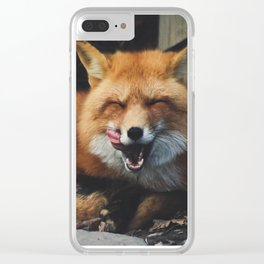 Fox Yawning Clear iPhone Case