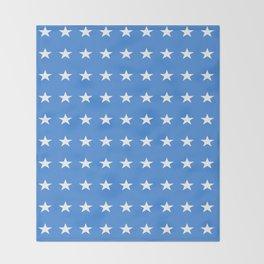 stars and blue-sky,light,blue,rays,hope,spangled,estrella,astre,pointed,azul,azure Throw Blanket