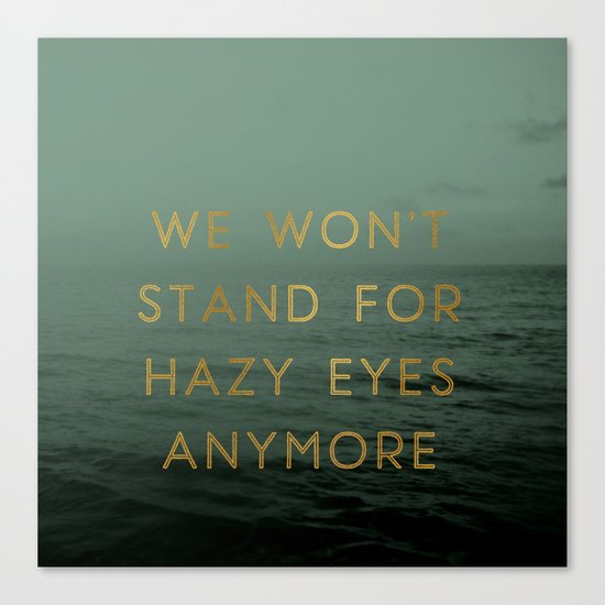 Hazy Eyes Canvas Print