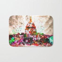 United States Capitol Grunge Bath Mat