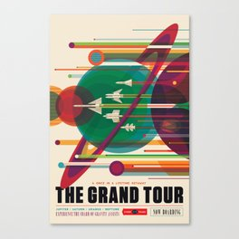 NASA Retro Space Travel Poster The Grand Tour Canvas Print