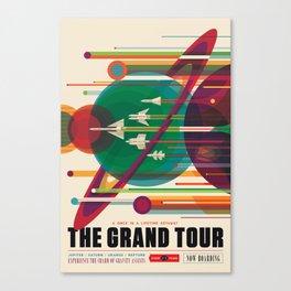 NASA Retro Space Travel Poster The Grand Tour Canvas Print