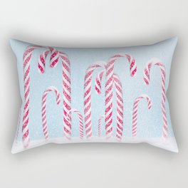 Christmas background with candy cane. Rectangular Pillow