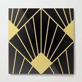 Art Deco Fan Metal Print