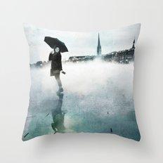 La Danse de la Pluie II Throw Pillow