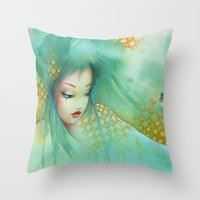 russian Throw Pillows featuring russian by Misstigri
