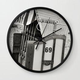BEACH CHAIR 69 - Baltic Sea Wall Clock