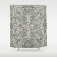 snowflake Shower Curtains featuring Snowflake  by Project M