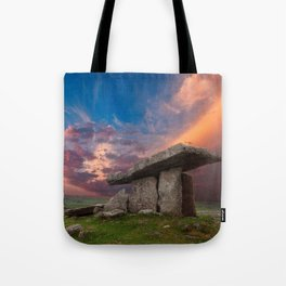 Poulnabrone Dolmen Sunset Tote Bag