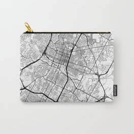 Austin Map White Carry-All Pouch