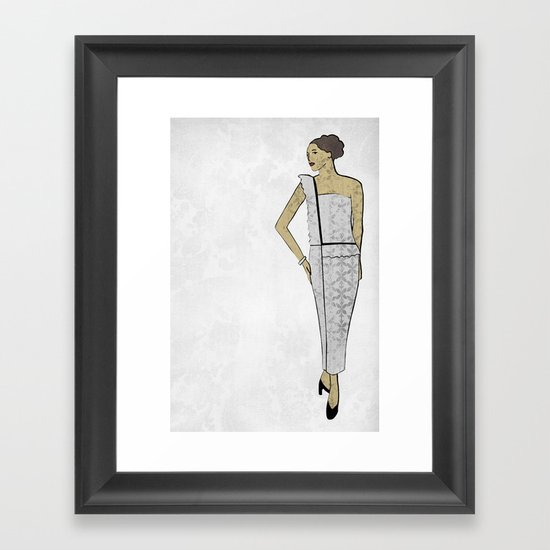 Fashion Illustration 1 Framed Art Print