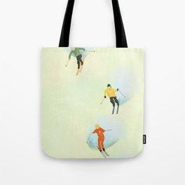 Skiing at High Speeds Tote Bag