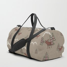 Moose and Mountains Pattern Duffle Bag