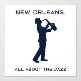 New Orleans Music Festival Jazz Saxophone Musician Design Canvas Print