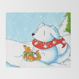Snowtriever Throw Blanket