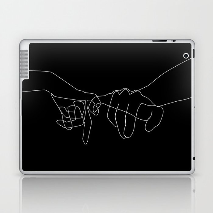 Black Pinky Swear Laptop & iPad Skin