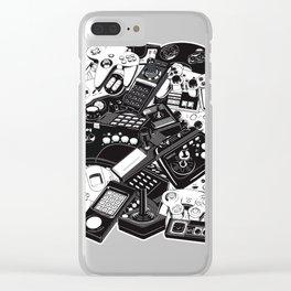 Retro Gaming Joysticks Clear iPhone Case