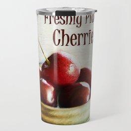 Freshly Picked Cherries Travel Mug
