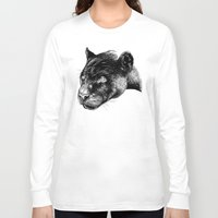 panther Long Sleeve T-shirts featuring Panther by Mark Matlock
