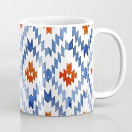 blue rhombus balinese ikat Coffee Mug