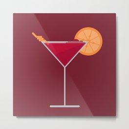 Cocktail Orange Metal Print