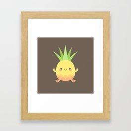 Happy pineapple kids Framed Art Print