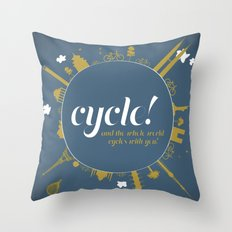 Cycle! Throw Pillow