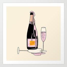 Fancy Champagne Art Print