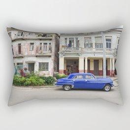 Havana Cuba Cuban Vintage Car Architecture Vedado Urban Street Photography Rectangular Pillow
