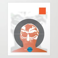 mf doom Art Prints featuring Vinyl Set- MF DOOM by The_Section