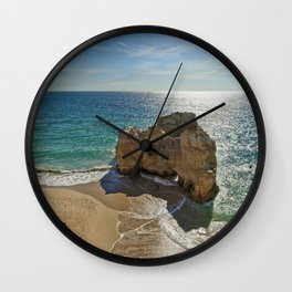 Praia da Rocha rock formation Wall Clock
