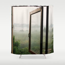 God opens a window Shower Curtain