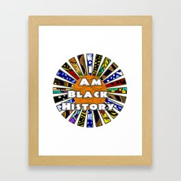 I am Black History African Fabric Collage Framed Art Print