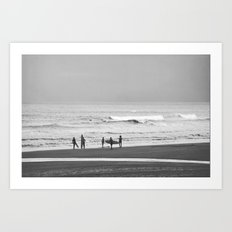 Before surfing Art Print