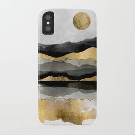Golden Spring Moon iPhone Case