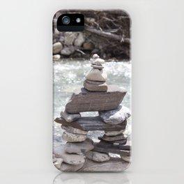 Johnson Canyon Inukshuk iPhone Case