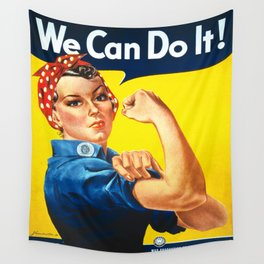Vintage poster - Rosie the Riveter Wall Tapestry